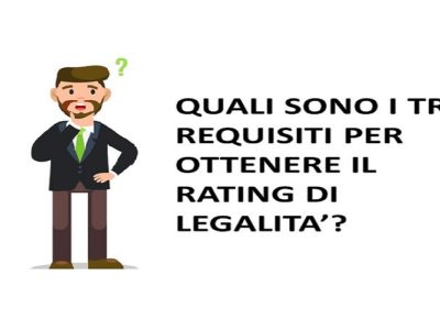 3 REQUISITI PER OTTENERE IL RATING DI LEGALITA' _ WWW.RATINGDILEGALITA.IT