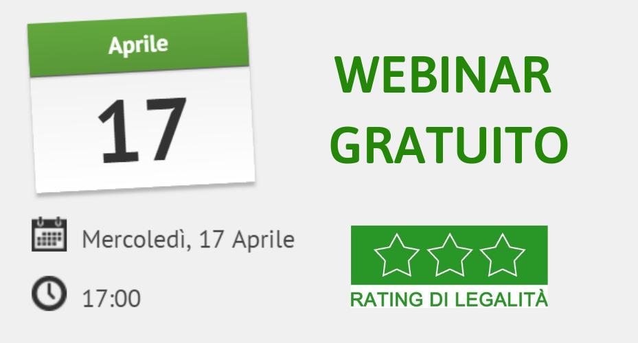 Webinar Gratuito Sul Rating Di Legalità