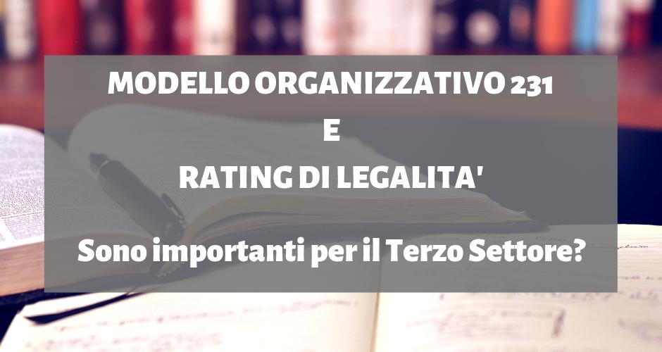 Modello 231 E Rating Di Legalità Negli Enti Del Terzo Settore